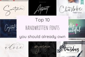 The top 10 handwritten fonts