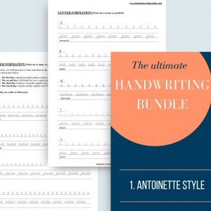 Handwriting Practice Bundle